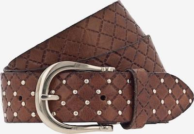 b.belt Handmade in Germany Leder-Nietengürtel  GOLD in braun, Produktansicht