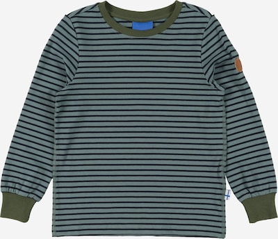 FINKID T-Shirt en bleu nuit / kaki / vert clair, Vue avec produit