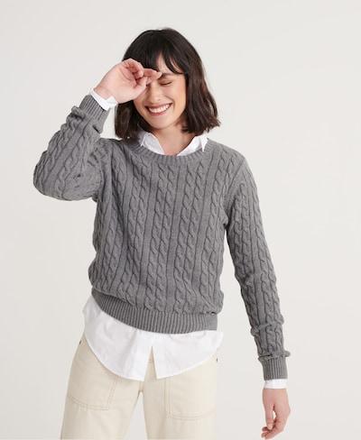 Superdry Pullover in grau, Modelansicht