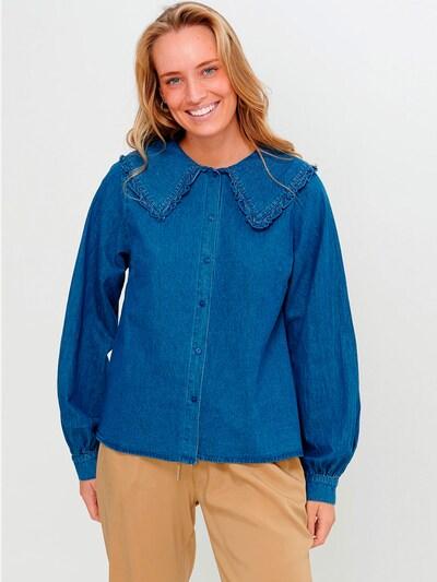 Noella Bluse 'Abby' in blue denim, Modelansicht