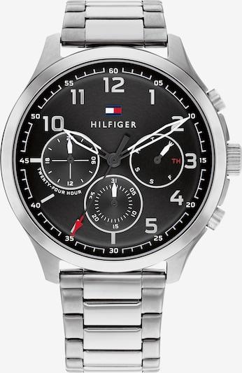 TOMMY HILFIGER Uhr in rot / schwarz / silber, Produktansicht