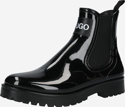HUGO Chelsea čižmy 'Tabita Rain' - čierna / biela, Produkt