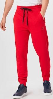 HUGO teplákové nohavice 'Doak' v červenej farbe