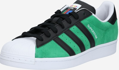 ADIDAS ORIGINALS Sneaker low 'SUPERSTAR' i grøn / sort / hvid, Produktvisning