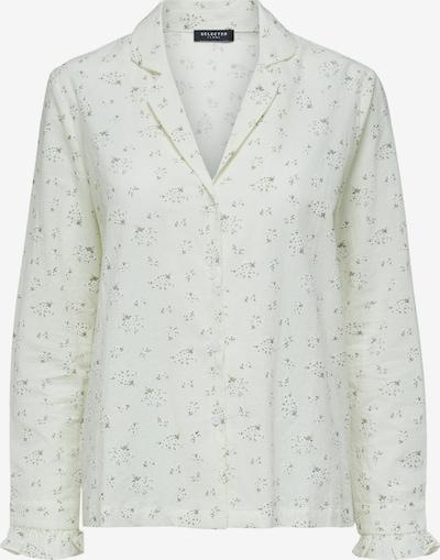SELECTED FEMME Schlafshirt 'Billie' in dunkelgrün / weiß, Produktansicht