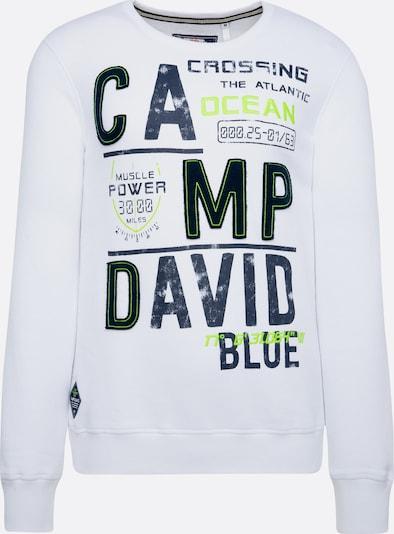 CAMP DAVID Sweatshirt mit Logo-Design in weiß, Produktansicht