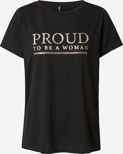 Tricou DeFacto pe auriu / negru, Vizualizare produs