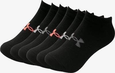 UNDER ARMOUR Socken in grau / hellrot / schwarz / weiß, Produktansicht