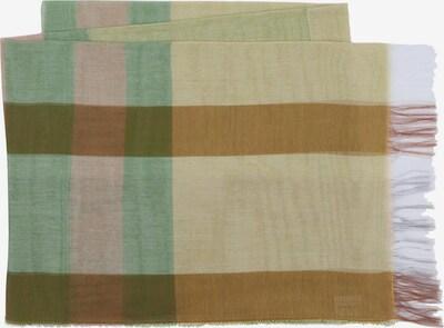 MJM Schal 'Rita' in hellbraun / grün / oliv / hellpink / weiß, Produktansicht