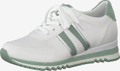 zöld / fehér MARCO TOZZI Rövid szárú edzőcipők, Termék nézet