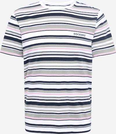Dockers T-shirt i rökblå / nattblå / rosa / vit, Produktvy