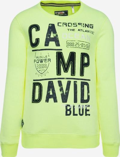CAMP DAVID Sweatshirt mit Logo-Design in neongelb, Produktansicht