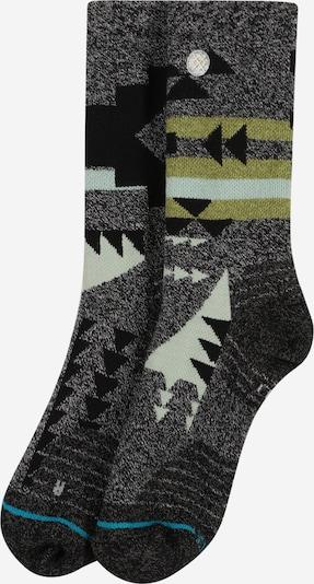 Stance Sportsokken in de kleur Pastelblauw / Riet / Zwart, Productweergave