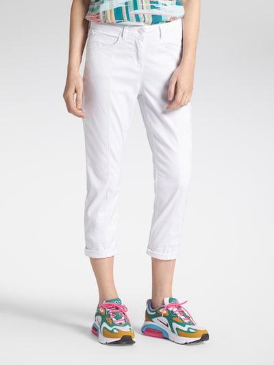 Sandwich Jeans in weiß, Modelansicht