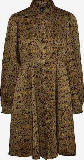 VERO MODA Blousejurk 'Gaja' in de kleur Olijfgroen / Sinaasappel / Zwart, Productweergave