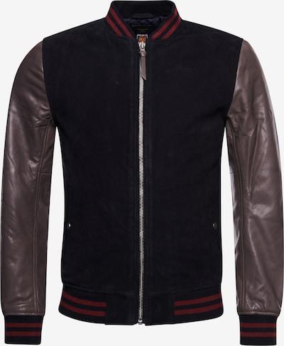 Superdry Jacke 'Varsity' in dunkelblau / dunkelgrau / rot, Produktansicht