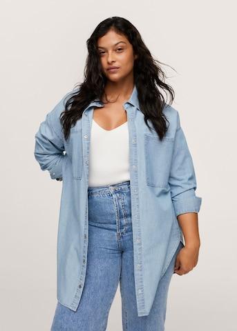 MANGO Блуза в синьо