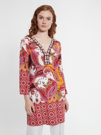 Ana Alcazar Tunika 'Dolyris' in orange / rot / schwarz / weiß, Modelansicht