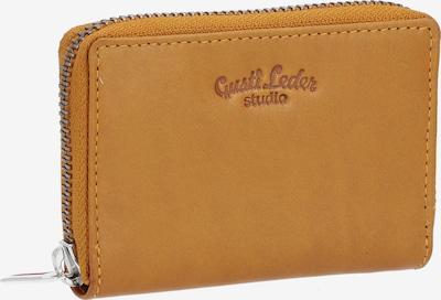Gusti Leder Portemonnee in de kleur Camel / Geel, Productweergave
