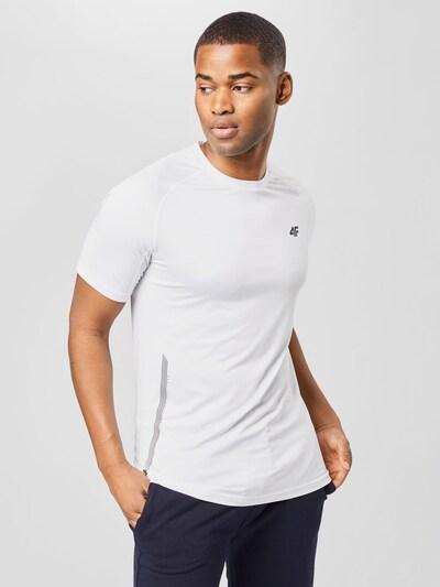 4F Tehnička sportska majica u crna / prljavo bijela: Prednji pogled