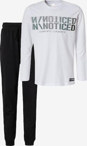STACCATO Schlafanzug in Weiß