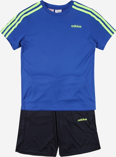 ADIDAS PERFORMANCE Sports suit in Night blue / Royal blue / Neon green / White, Item view