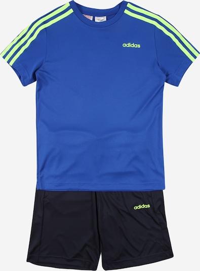 ADIDAS PERFORMANCE Sportanzug in nachtblau / royalblau / neongrün / weiß, Produktansicht