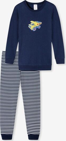SCHIESSER Pyjama in blau / navy / hellblau / gelb / rot, Produktansicht