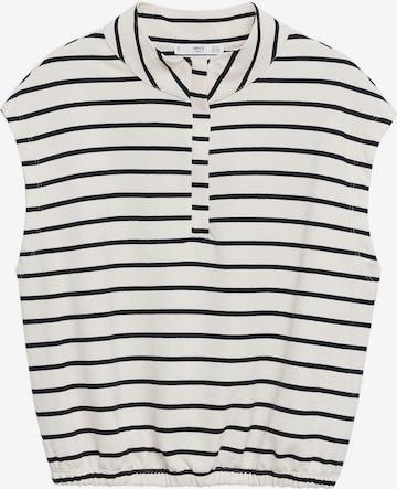 MANGO Sweatshirt 'AGNES' i hvit