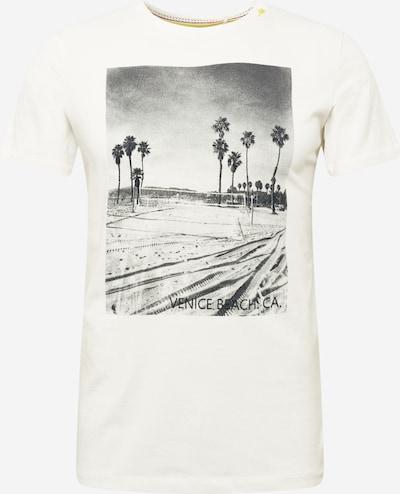 BLEND Camiseta en negro / blanco natural, Vista del producto