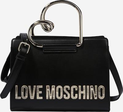 Love Moschino Ručna torbica u zlatna / crna: Prednji pogled