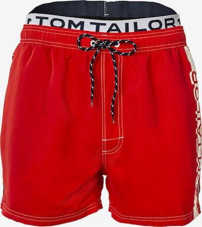 TOM TAILOR Shorts de bain en bleu / rouge / blanc, Vue avec produit