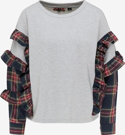 myMo ROCKS Sweatshirt in navy / grau / dunkelrot, Produktansicht