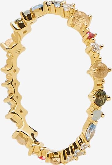 Inele 'Papillon' P D PAOLA pe auriu / culori mixte, Vizualizare produs
