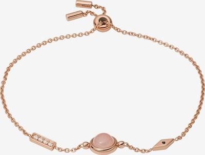 FOSSIL Náramek - růžově zlatá / starorůžová / bílá, Produkt