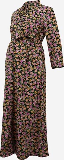 Pieces Maternity Robe 'PCMROSIA' en vert gazon / rose ancienne / rose clair, Vue avec produit