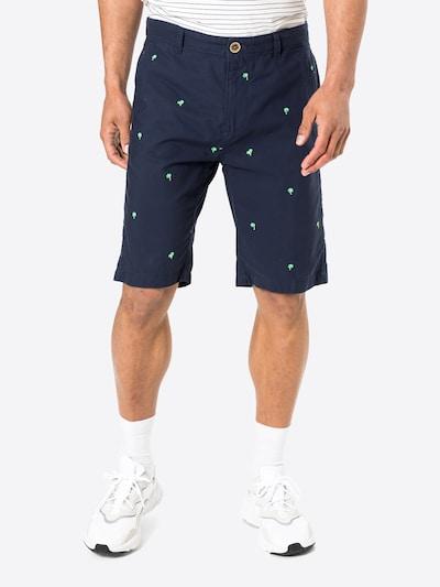 Pantaloni eleganți COLOURS & SONS pe albastru închis / maro deschis / verde deschis, Vizualizare model