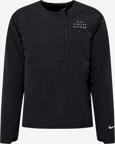 NIKE Sportovní bunda 'Run Division' - černá / bílá, Produkt
