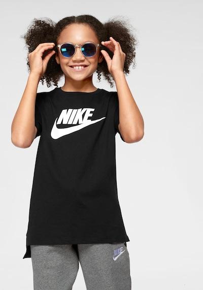 Nike Sportswear Shirt 'Futura' in schwarz / weiß: Frontalansicht
