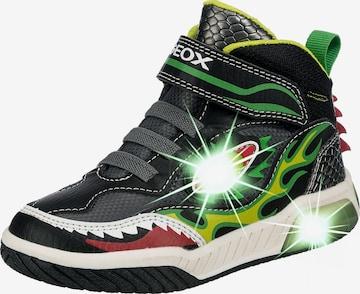 GEOX Sneaker 'Inek' in Schwarz