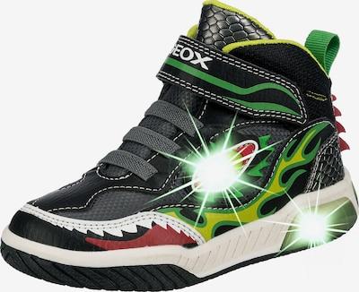 GEOX Sneaker 'Inek' in gelb / grün / pastellrot / schwarz / weiß, Produktansicht