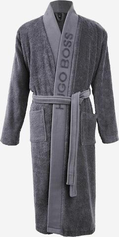 BOSS Home Long Bathrobe in Grey