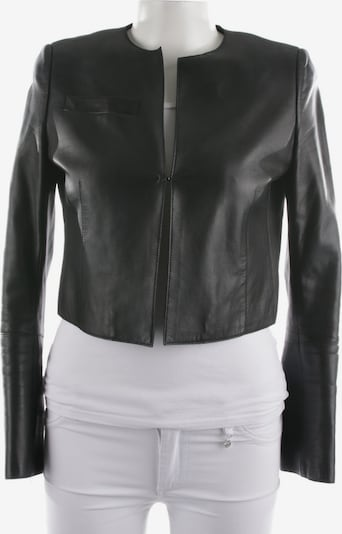 AKRIS Lederjacke in M in schwarz, Produktansicht