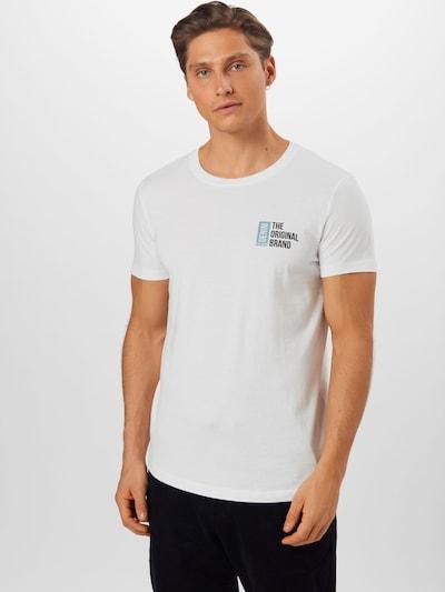 Marškinėliai iš TOM TAILOR DENIM , spalva - mėtų spalva / juoda / balta, Modelio vaizdas