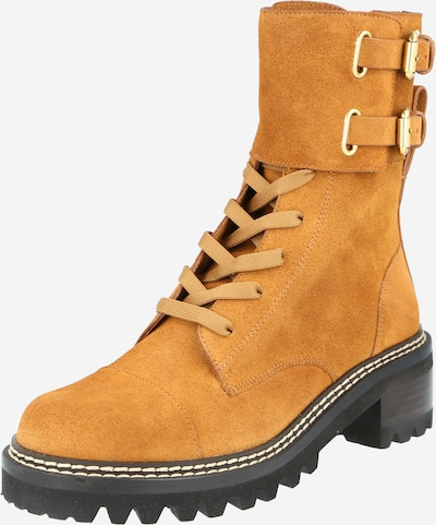 See by Chloé Lace-up boot 'Mallory' in Cognac, Item view