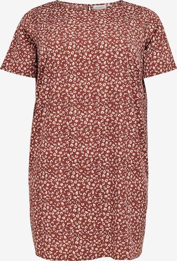 ONLY Carmakoma Robe 'LIVIA' en rouge foncé / noir / blanc, Vue avec produit
