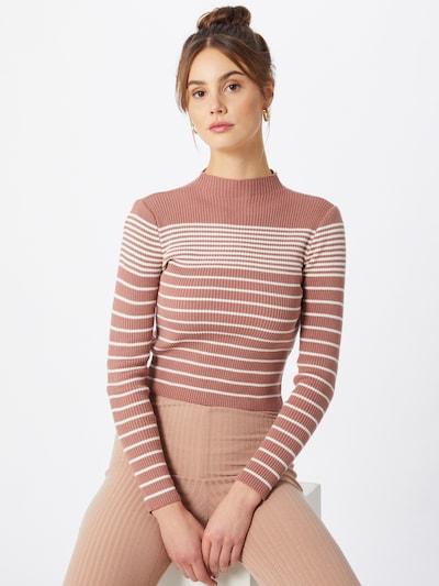 Trendyol Pull-over en rose / blanc, Vue avec modèle