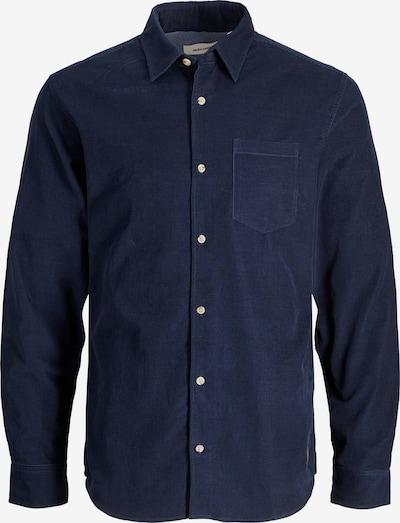 JACK & JONES Hemd 'Kendrick' in navy / cognac, Produktansicht