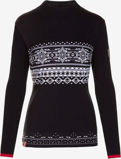Almgwand Pullover 'LEINERALM' in schwarz / weiß, Produktansicht