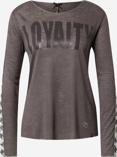 Key Largo T-shirt 'Loyalty' en anthracite / blanc, Vue avec produit